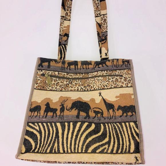 fb46824df Jade Bags   Safari Print Tapestry Tote Bag   Poshmark
